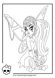 monster high howleen coloring pages getcoloringpages com