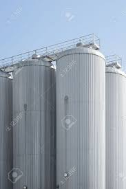 Grain Silo Homes by Industrial Agriculture Silo Housing Grain With Copy Space Stock