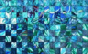 Muster Blau Grün Bild Collage Fotografie Schachbrett Acrylmalerei Fmmarino