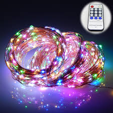 led christmas lights with remote control 165ft 50m 500 leds 8 colors copper wire led string lights starry