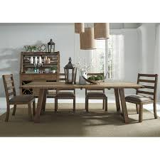 modus yosemite 7 piece rectangular dining table set with mixed