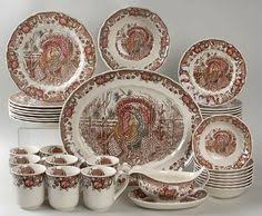 bust of pretty thanksgiving dinnerware sets dining room