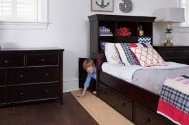 boston captains bed storage drawers cubbies craft bedroom