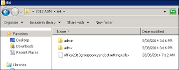 question how to install office 2013 administrative template files