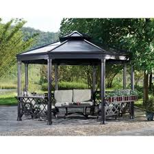 Metal Pergola With Canopy by Metal Pergola Lowes Nucleus Home