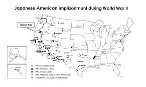 Map Of Concentration Camps Japanese Internment By Jesse Rogers