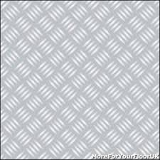 chequered plate vinyl flooring silver metal lino 4m silver