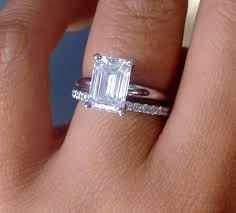 solitaire emerald cut engagement rings wedding band for an emerald cut solitaire help weddingbee