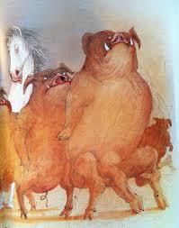 ralph steadman u0027s illustrations for george orwell u0027s animal farm
