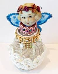 gorgeous vintage bisque baby doll ornaments bottle by msbingles