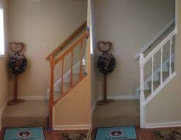 staircase banister painted white house pinterest banisters