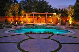 Pool With Pergola by Los Angeles Pool And Spa Renovations Water Shape Features