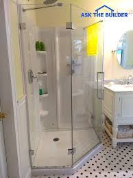 glass shower wall panels are sleek u0026 smooth ask the builder