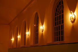 Church Lights Christ Church Beam Illuminating Architecture