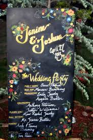 Chalkboard Wedding Program Merry Brides U2014 Chalkboard Wedding Trend