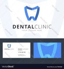 Dental Business Card Designs Logo And Business Card Template For Dental Clinic Vector Image