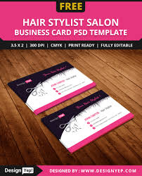 Best Visiting Card Designs Psd Free Hair Stylist Salon Business Card Template Psd On Behance