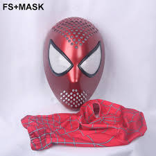 hero catcher quality red black spiderman faceshell