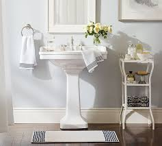 Bathroom Storage Ideas With Pedestal Sink Remodelaholic 30 Bathroom Storage Ideas