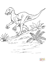 deinonychus dinosaur coloring free printable coloring pages