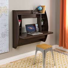 Stylish Computer Desk Space Saving Expresso Wall Mount Computer Desk Products Pinterest