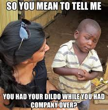 Dildo Meme - so you mean to tell me you had your dildo while you had company