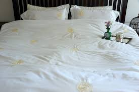 hand embroidered bed linens