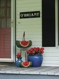 watermelon basket decor for the front porch summer porch decor