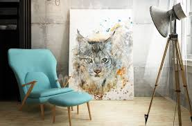 murals posters wall stickers canvas prints myloview com wild cat canvas print