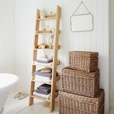 Bathroom Leaning Bathroom Ladder Shelf Bath Towel Ladder Modern