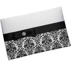 black wedding guest book black damask wedding guest book pen set damask guest book