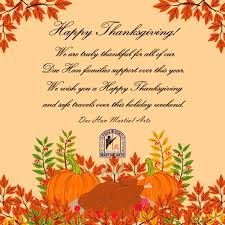 happy thanksgiving dae han martial arts