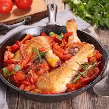 cuisine poulet basquaise recette poulet basquaise au four facile rapide