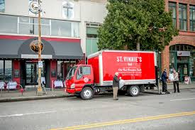 seattle now then st vinnie s in belltown dorpatsherrardlomont mohai now one of the four st vinnie s red trucks now running picks up some