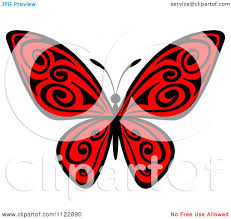 clipart of a butterfly with black swirls royalty free vector