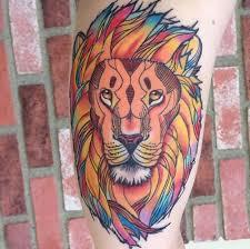 geometric lion tattoo design tattooshunter com
