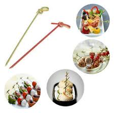 ebay canapé 12cm bamboo knot skewers cocktail sticks ideal canape buffet