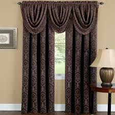 decor brown wall design with macys curtains ideas for living room
