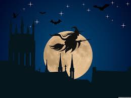 flying witch halloween halloween witch flying hd desktop wallpaper widescreen high