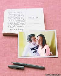 wedding thank you postcards handmade wedding thank you notes martha stewart weddings