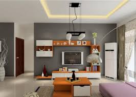 about gray orange and white living room on grey wall paint color