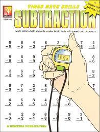 timed math drills subtraction 004252 details rainbow