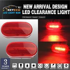 led clearance lights motorhomes keyecu led 2pcs marker lights red outline ls bus truck trailer