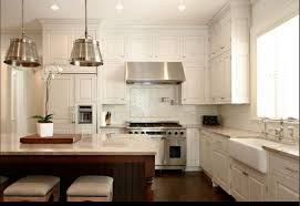 kitchen backsplash glass subway tile glass subway tile kitchen wooden cabinet built in oven cylinder