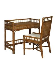 desk chairs cottage wicker rattan writing desk chair bamboo