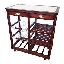 ja marketing oaken wood kitchen trolley bar cart u0026 reviews wayfair