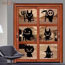 Halloween Silhouettes Window Online Get Cheap Halloween Window Stickers Aliexpress Com