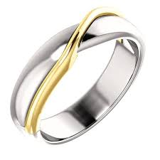 design wedding ring 14k white and yellow twisted design wedding band weddings