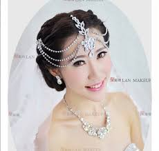 bridal headpiece silver plated indian hair accessories jewelry