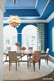 interior dining room color schemes chair rail pertaining to